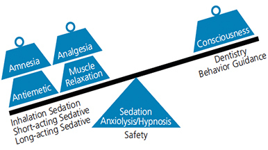 Components of moderate sedation.